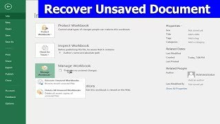 How to Recover Unsaved Document in Microsoft Excel 2018