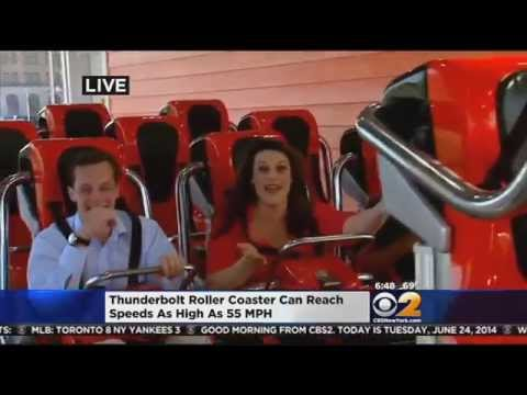 CBS 2's Alex Denis Rides Coney Island's Thunderbolt Roller Coaster