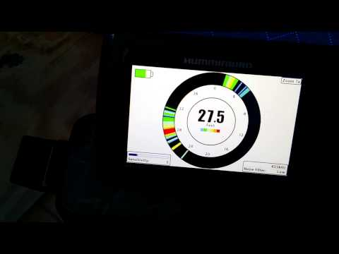 humminbird helix 5 di gps in ice fishing mode - youtube, Fish Finder