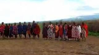 マサイ族歓迎の舞?