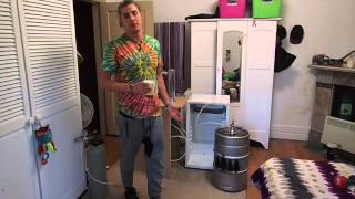 How to make a DIY Kegerator - Beer fridge, Mini bar, Keg, Tap, Co2