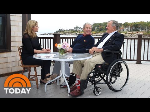 Watch Jenna Bush Hager And George W. Bush Talk Family With G