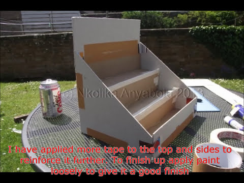 How To Make A Greeting Card Display Stand By Nkolika Anyabolu Youtube