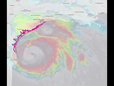 Hurricane Harvey:  Storm Surge Watches and Warnings