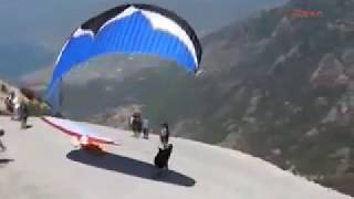 Grant Thompson-Real Unseen Footage-Moments Before Death-Paragliding Accident From Top of Cliff