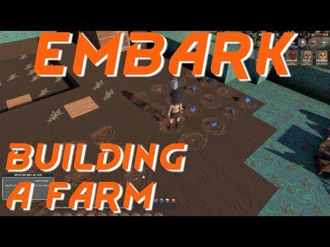 Embark building tutorial -  Improving the base -  Embark building a farm gameplay
