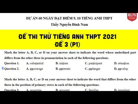 Livestream 5: Chữa đề thi thử tiếng Anh THPT| IELTS FIGHTER
