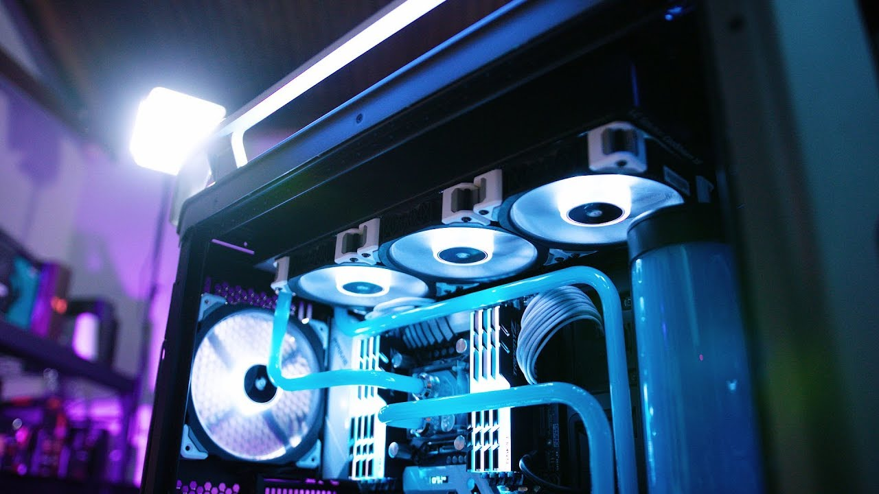 Watercooled And Overclocked 7960x In Cosmos C700p Youtube