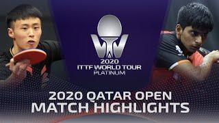 Xu Haidong vs Suravajjula Snehit   2020 ITTF Qatar Open Highlights (FS)