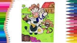 Dora auf Deutsch Ausmalbilder Färbung | Kleine Hände Malbuch