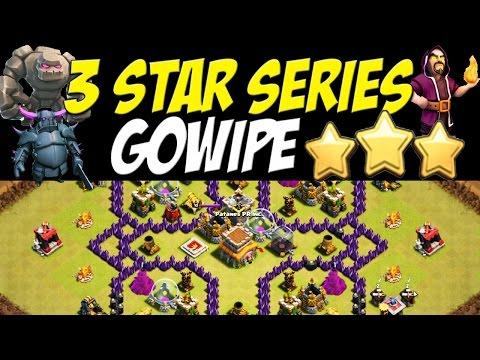 Star series gowipe th 8 attack strategy vs max th8 defenses clash