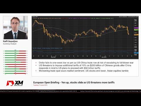 Forex News: 19/06/2018 - Yen up, stocks slide as US threatens more tariffs
