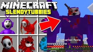 Minecraft SLENDYTUBBIES MOD! | EVIL TELETUBBIES & MORE | Modded Mini-Game