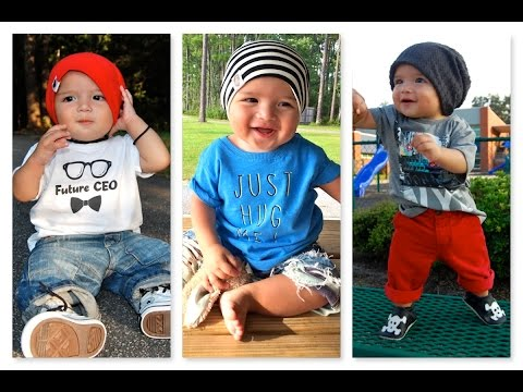Baby Fashion | Baby Boy Outfit (7 months old) | How to style Beani hat Lookbook || Erwinasland
