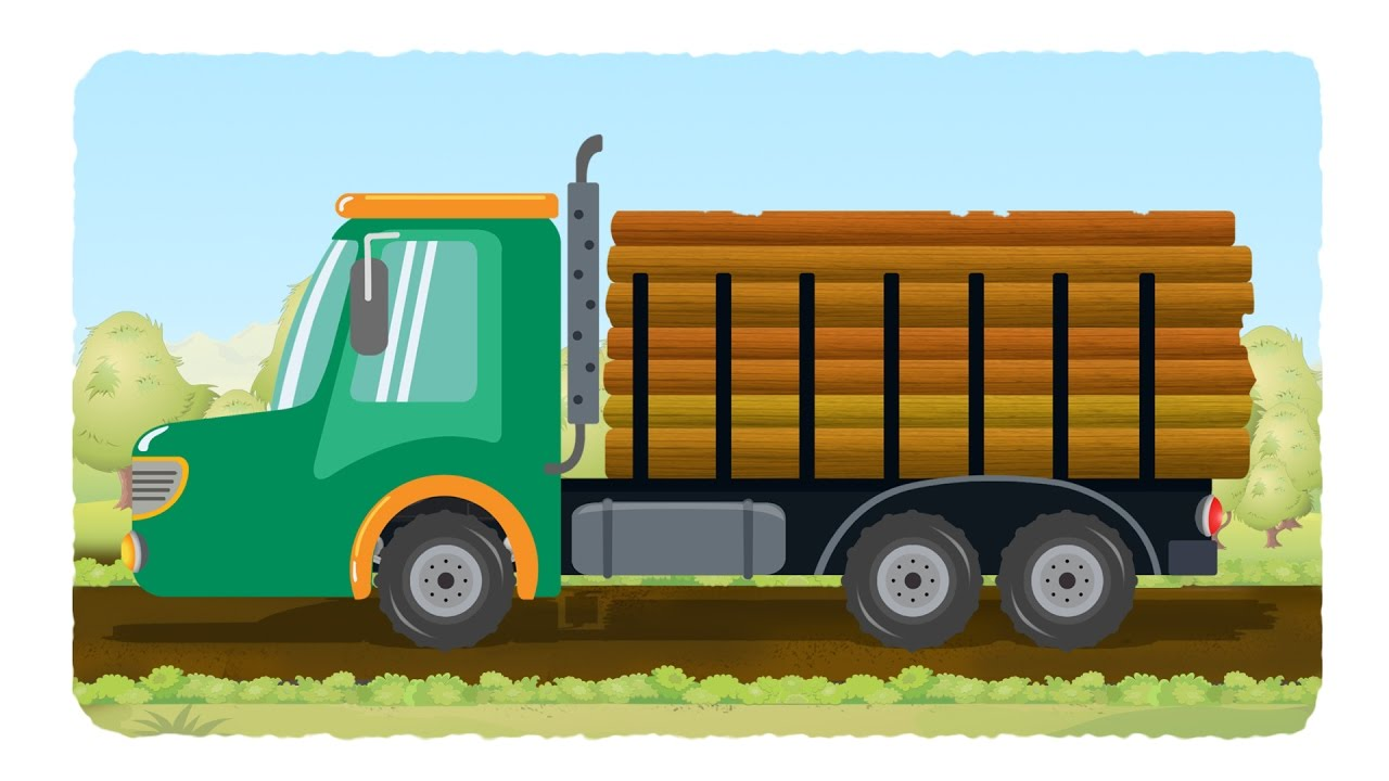 lorry truck videos for kids log truck youtube
