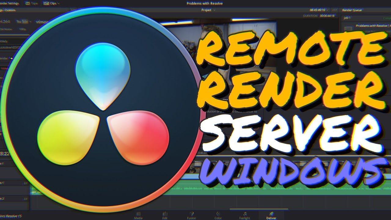 How to set up a RENDER SERVER in DaVinci Resolve (Windows Remote Render  Complete Guide)