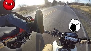 HE TRIED KICKING ME OFF MY BIKE! - Grom Ventures Ep.. 40 - Olivia is back!
