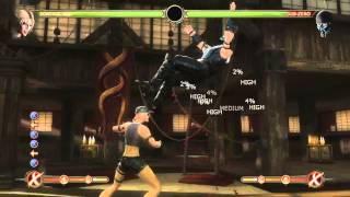 Mortal Kombat 9 - Sonya Blade обучение + комбо