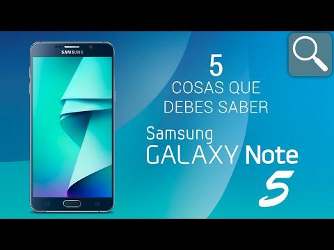 5 cosas que debes saber del Samsung Galaxy Note 5