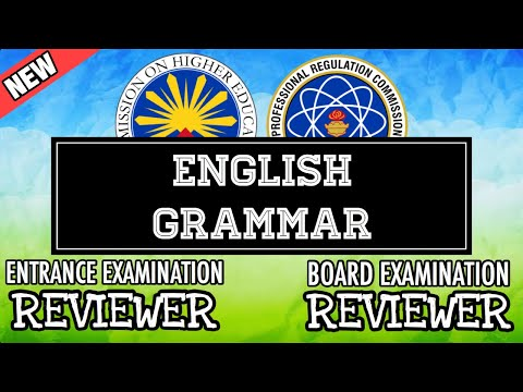 Entrance Exam Reviewer | Common Questions With Answer In English Grammar