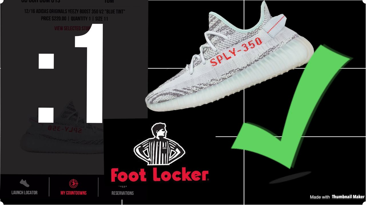 b1d7c6888 How to get yeezys from footlocker app - YouTube