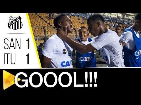 Santos 1 x 1 Ituano | GOL | Paulistão (28/01/18)