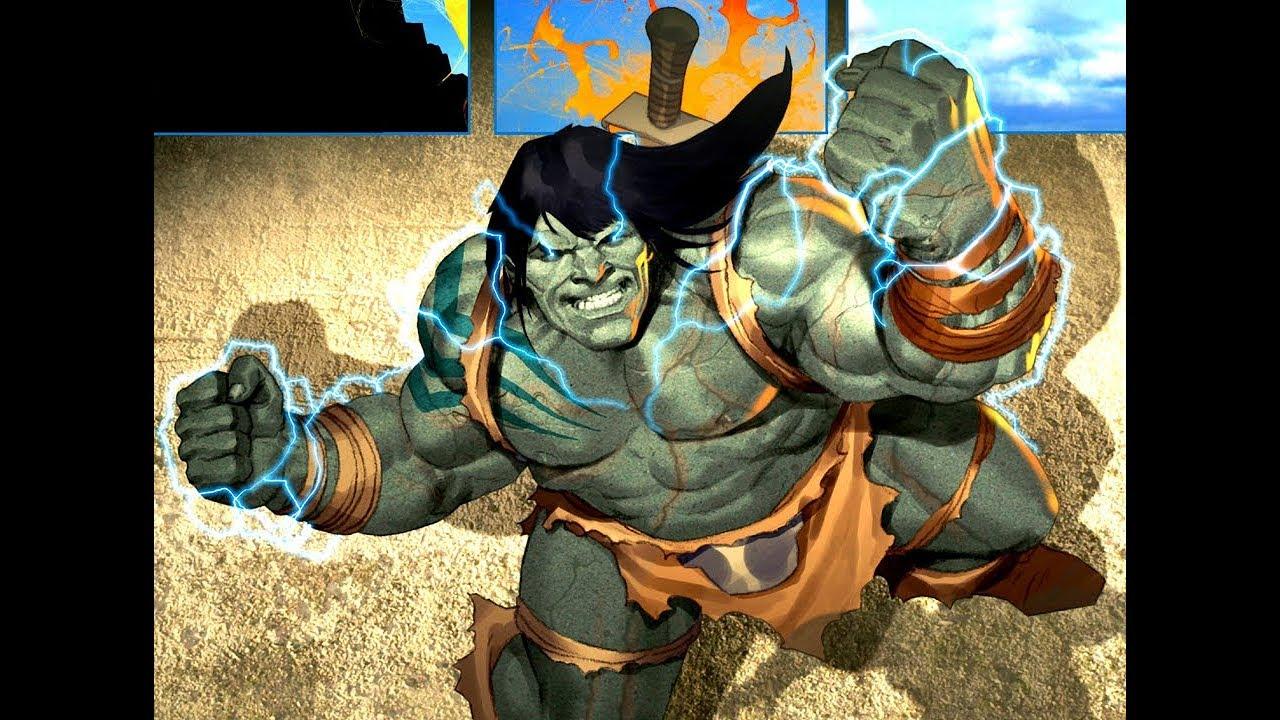 Red Hulk Vs Trion Juggernaut: Skaar Vs. Juggernaut