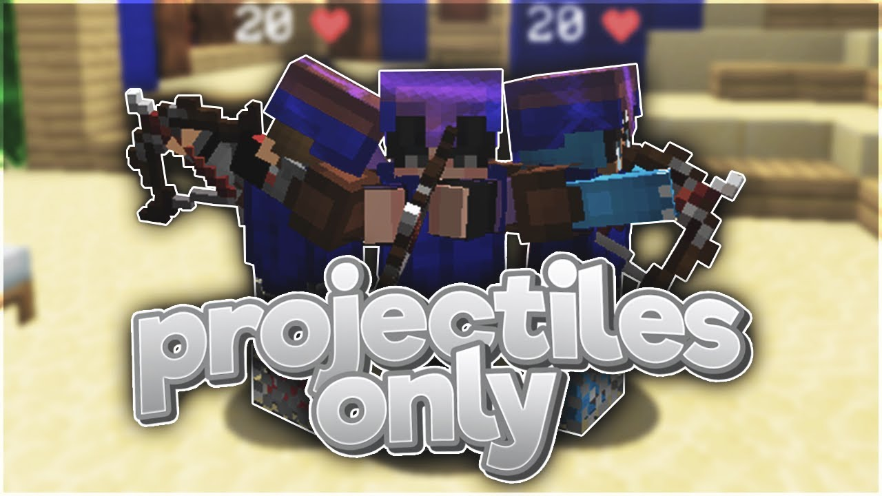 ONLY Using Projectiles in Hypixel Bedwars (Minecraft Challenge)