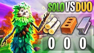 TRYING TO SURVIVE WITHOUT MATERIALS IN FORTNITE SOLO VS DUO!!!
