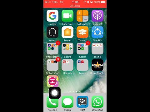 cara mudah merekam layar iphone ( ios 10+ )