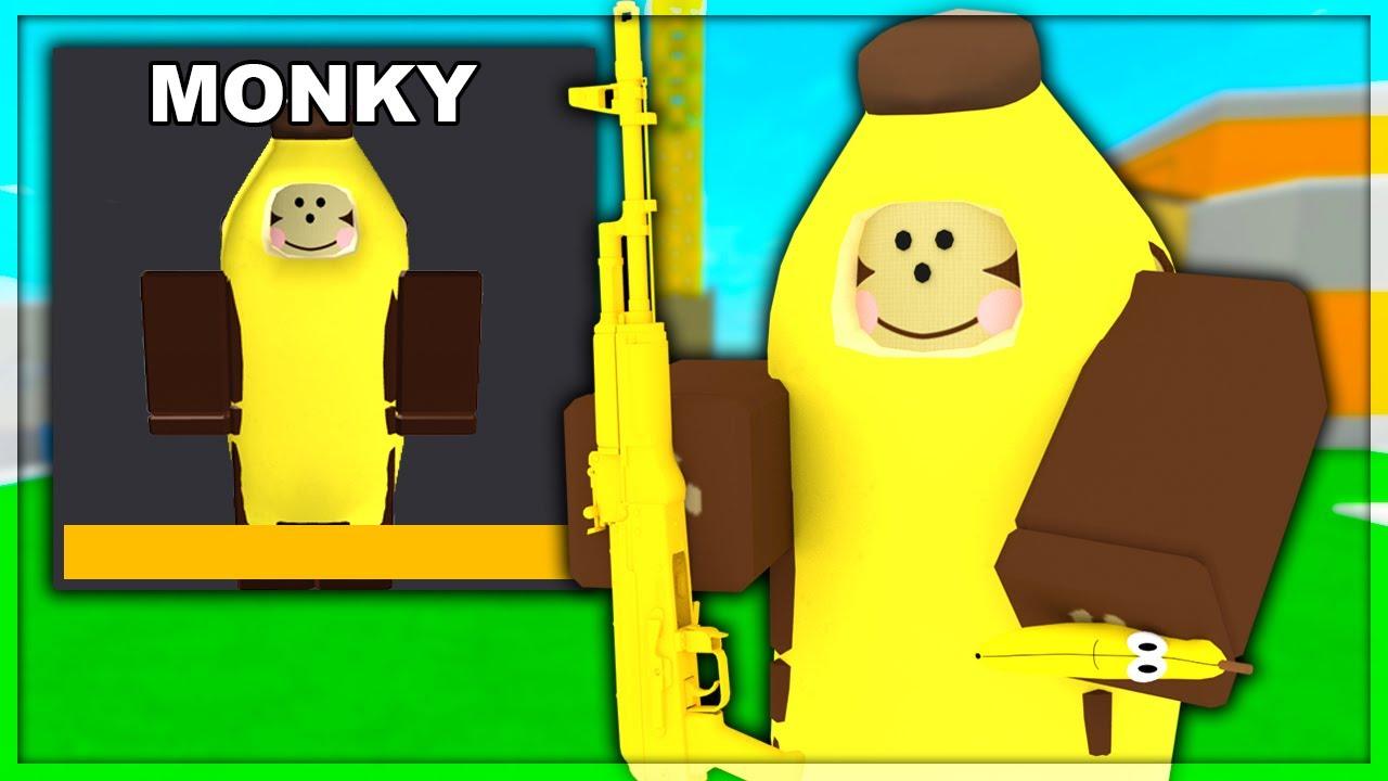 Disguising Myself As The Rare Monkey Skin Roblox Arsenal Youtube
