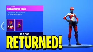 """APLINE ACE"" Skins RETURN! Fortnite DAILY ITEM SHOP! MOGUL MASTER SKINS! RARE SKINS RETURN DECEMBER"