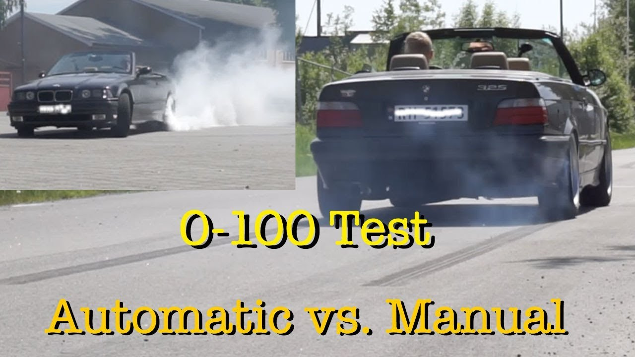is automatic really faster than manual 0 100 test youtube rh youtube com Manual Automatic Mobil why are manual cars better than automatics