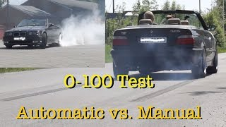 Is AUTOMATIC really FASTER than MANUAL? 0-100 TEST