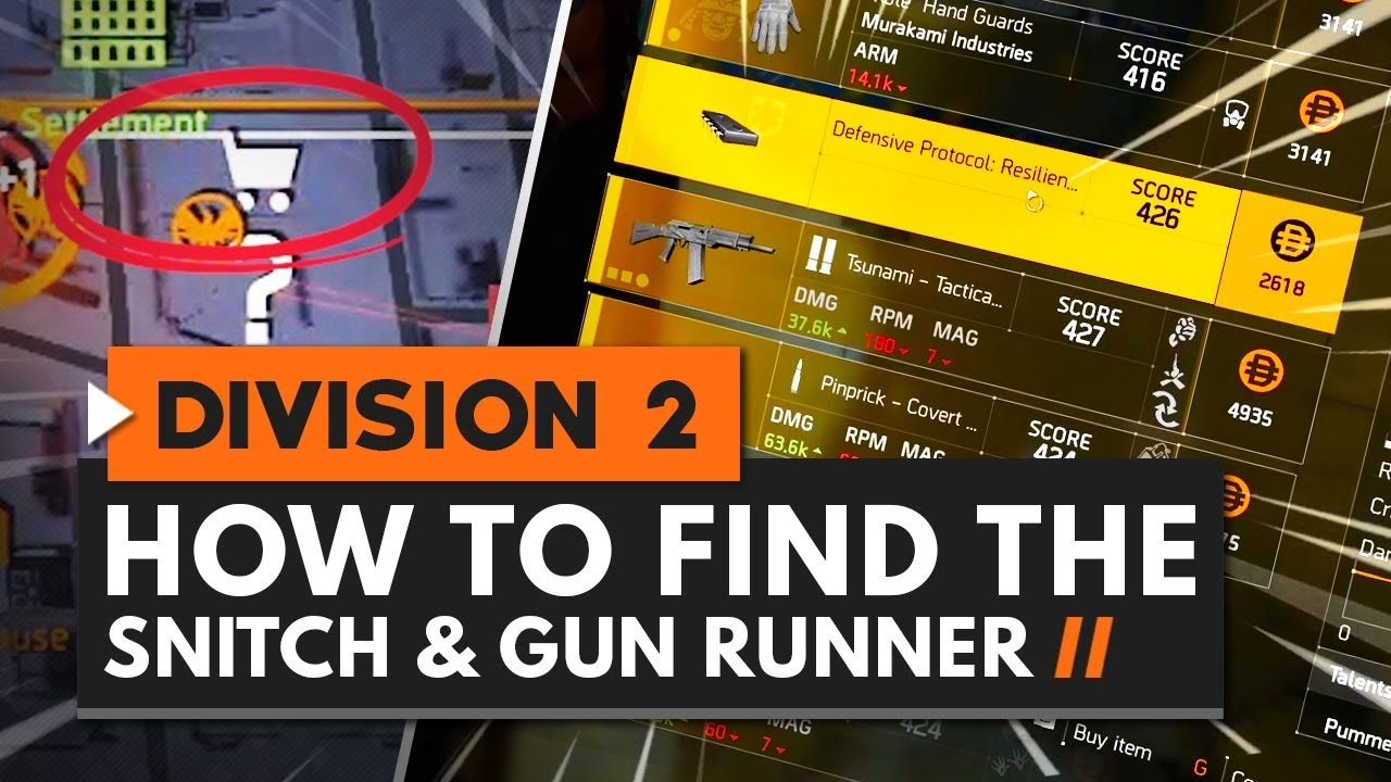 How to Find the Snitch & Gun Runner in The Division 2