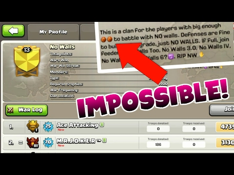 Clash Of Clans | THESE PLAYERS HAVE NO WALLS | INSANE LVL 13 CLAN |
