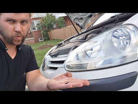 How to clean foggy headlights on a Volkswagen Rabbit / Jetta / Passat Or Any Car