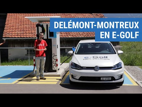 Delémont à Montreux En VW E-golf