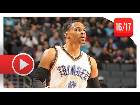 Russell Westbrook Full Highlights vs Hornets (2017.01.04) - 33 Pts, 15 Reb, 8 Ast