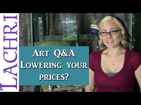 Art Q&A lowering prices to get more sales? Artist tips w/ Lachri