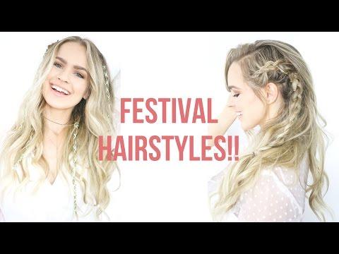 Easy Festival Hairstyles Tutorial - KayleyMelissa