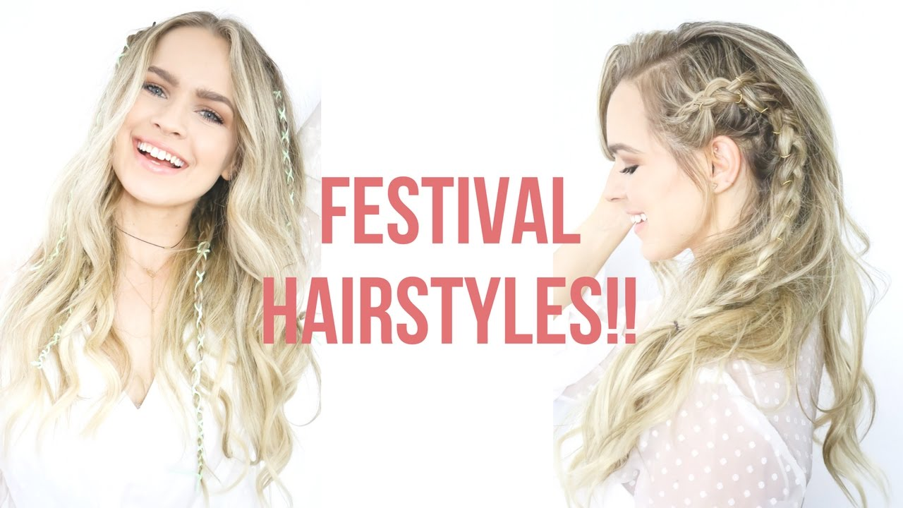 Hair Style Videos Youtube: Easy Festival Hairstyles Tutorial