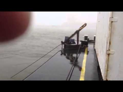 Hurricane Sandy from Tugboat in Atlantic City