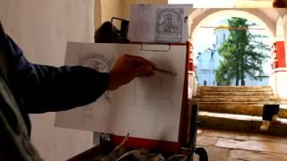 Обучение рисунку. Введение. 23 серия: о простейших набросках карандашом на открытом воздухе