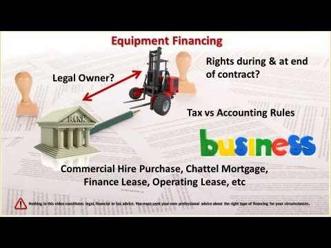 Financial Statements: Business Equipment Financing