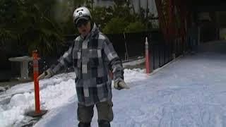 ICE SKATING using same INLINE SKATING + SNOW SKATING moves DEMO #1 Lorne Milne