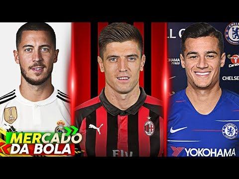 Chelsea faz proposta por Coutinho, Hazard fica perto do Real, Milan acerta com Piatek thumbnail