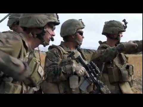 Kilo Company 3/7 Marines Security Patrol In Sangin, Afghanistan