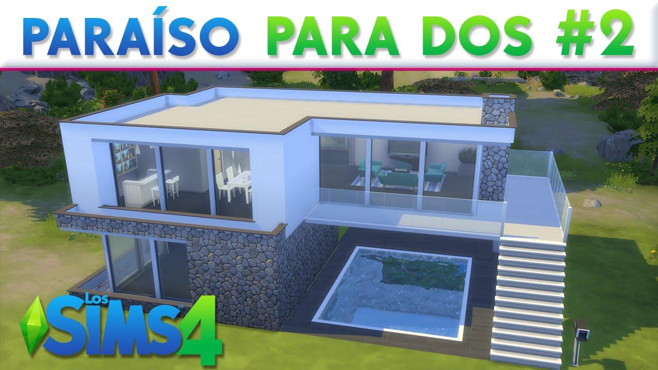 Para so para dos los sims 4 construcciones youtube for Casas modernas sims 4 paso a paso
