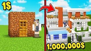 MINECRAFT - DOM ZA 1$ VS DOM ZA 1,000,000$ | Vito i Bella